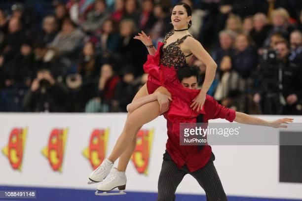 Jasmine Tessari and Francesco Fioretti of Italy compete in the Ice Dance Rhythm Dance during day three of the ISU European Figure Skating...