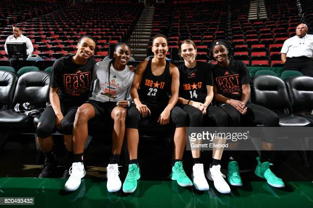 Jasmine Thomas of the Connecticut Sun Tiffany Hayes of the Atlanta Dream Layshia Clarendon of the Atlanta Dream Allie Quigley of the Chicago Sky and...
