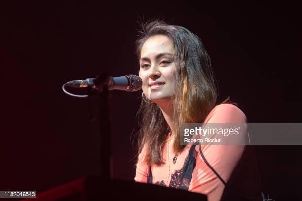 Jasmine Thompson performs on stage at O2 Academy Glasgow on November 12 2019 in Glasgow Scotland