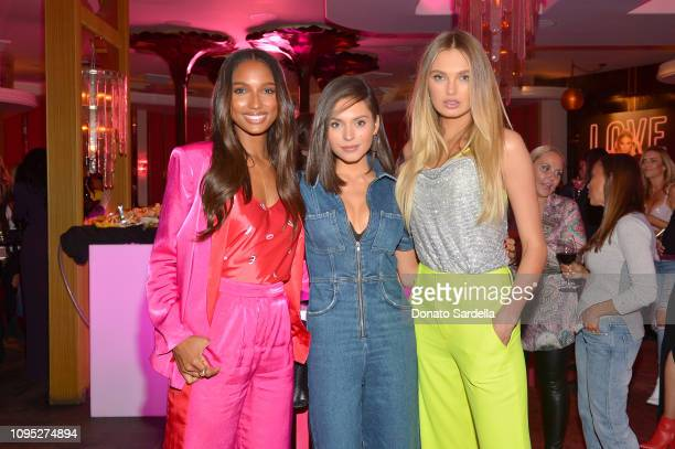 Jasmine Tookes Alyssa Lynch and Romee Strijd attend Victoria's Secret Angels Jasmine Tookes and Romee Strijd Share The Perfect Gifts for Valentine's...