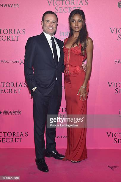 Jasmine Tookes and guest attend the 2016 Victoria's Secret Fashion Show after party on November 30 2016 in Paris France