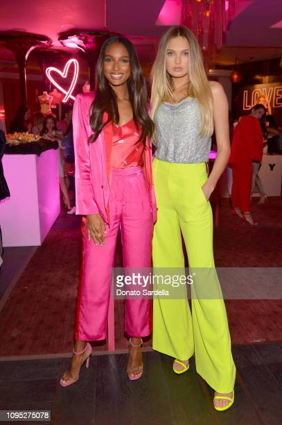 Jasmine Tookes and Romee Strijd attend Victoria's Secret Angels Jasmine Tookes and Romee Strijd Share The Perfect Gifts for Valentine's Day on...