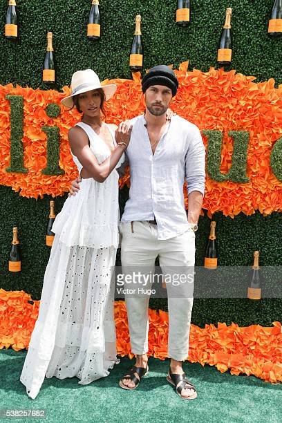 Jasmine Tookes and Tobias Sorensen attends 9th Annual Veuve Clicquot Polo Classic at Liberty State Park on June 4 2016 in Jersey City New Jersey