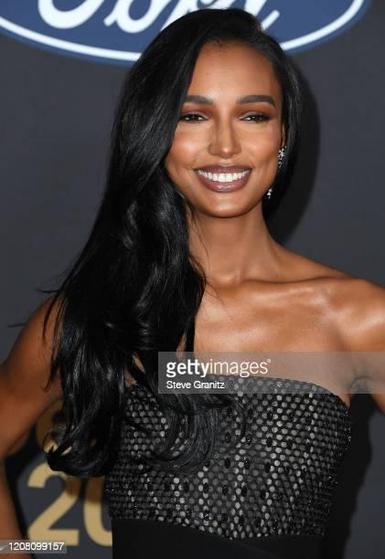 Jasmine Tookes arrives at the 51st NAACP Image Awards on February 22 2020 in Pasadena California