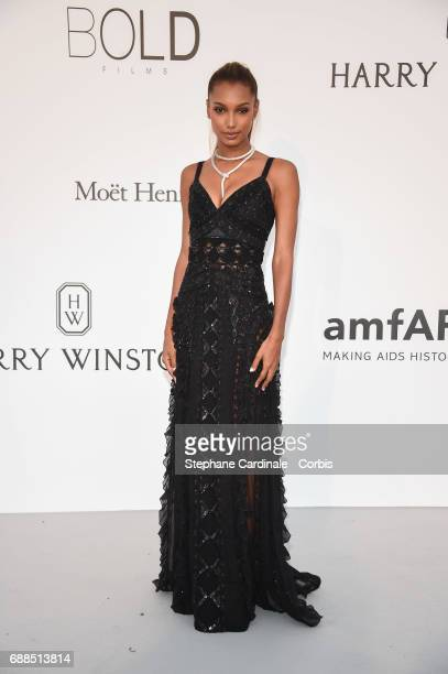 Jasmine Tookes arrives at the amfAR Gala Cannes 2017 at Hotel du CapEdenRoc on May 25 2017 in Cap d'Antibes France
