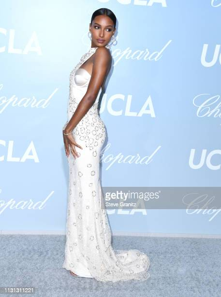 Jasmine Tookes arrives at the Hollywood For Science Gala at Private Residence on February 21 2019 in Los Angeles California