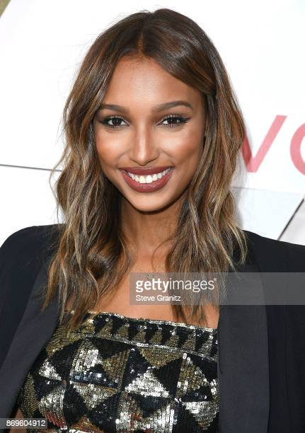 Jasmine Tookes arrives at the #REVOLVEawards at DREAM Hollywood on November 2 2017 in Hollywood California