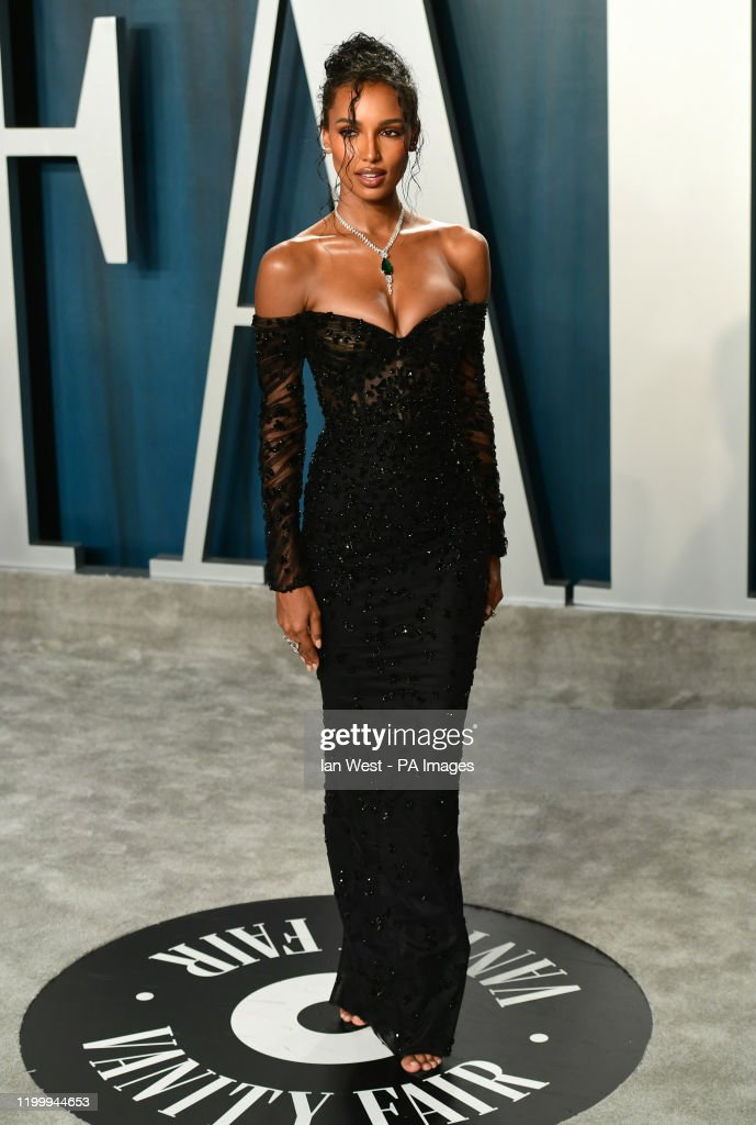 Jasmine Tookes Attending The Vanity Fair Oscar Party Held At The News Photo Getty Images