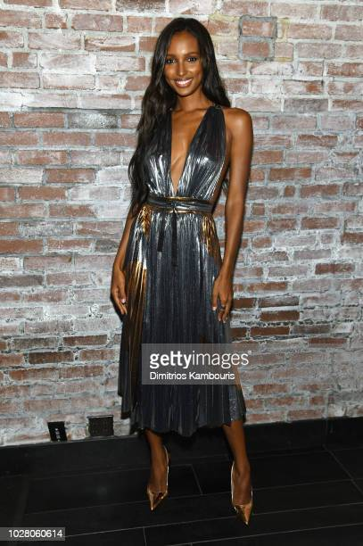 Jasmine Tookes attends a private dinner hosted by Cindy Crawford Ed Razek and Russell James celebrating 'ANGELS' by Russell James book launch and...