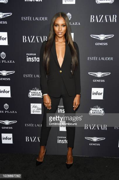 Jasmine Tookes attends as Harper's BAZAAR Celebrates ICONS By Carine Roitfeld at the Plaza Hotel on September 7 2018 in New York City