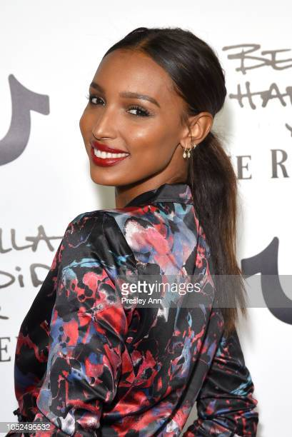 Jasmine Tookes attends Bella Hadid x True Religion Event Campaign Party at Poppy on October 18 2018 in Los Angeles California