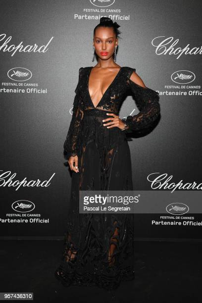 Jasmine Tookes attends Chopard Secret Night during the 71st annual Cannes Film Festival at Chateau de la Croix des Gardes on May 11 2018 in Cannes...