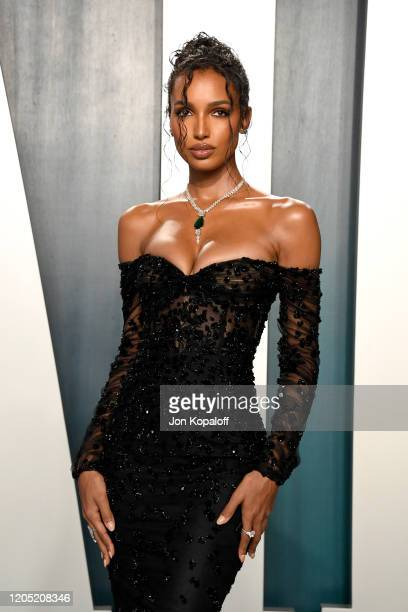 Jasmine Tookes attends the 2020 Vanity Fair Oscar Party hosted by Radhika Jones at Wallis Annenberg Center for the Performing Arts on February 09,...