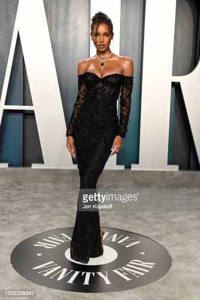 Jasmine Tookes attends the 2020 Vanity Fair Oscar Party hosted by Radhika Jones at Wallis Annenberg Center for the Performing Arts on February 09...