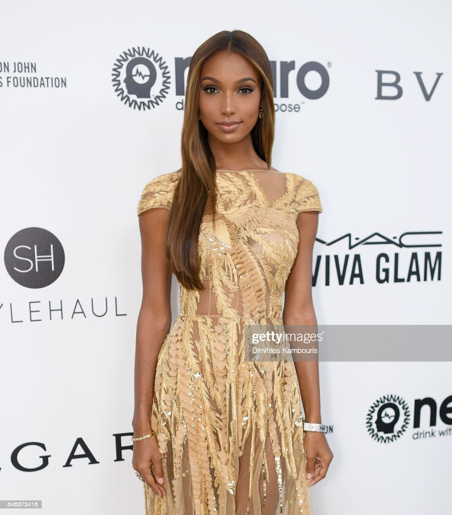 Jasmine Tookes attends the 25th Annual Elton John AIDS Foundation's Academy Awards Viewing Party at The City of West Hollywood Park on February 26, 2017 in West Hollywood, California.