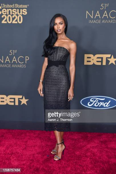 Jasmine Tookes attends the 51st NAACP Image Awards at the Pasadena Civic Auditorium on February 22 2020 in Pasadena California