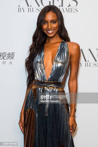 Jasmine Tookes attends the Russell James 'Angels' book launch & exhibit at Stephan Weiss Studio on September 6, 2018 in New York City.