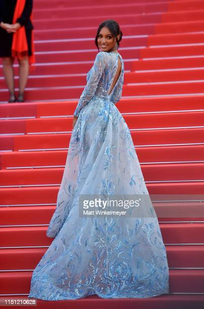 Jasmine Tookes attends the screening of The Traitor during the 72nd annual Cannes Film Festival on May 23 2019 in Cannes France