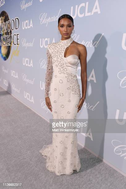 Jasmine Tookes attends the UCLA IoES honors Barbra Streisand and Gisele Bundchen at the 2019 Hollywood for Science Gala on February 21 2019 in...
