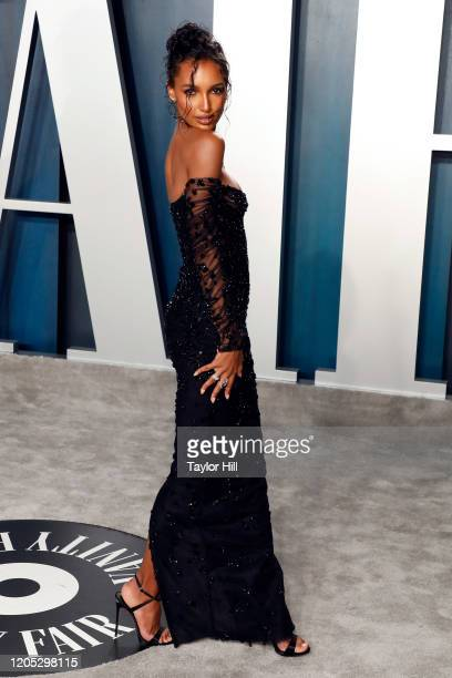 Jasmine Tookes attends the Vanity Fair Oscar Party at Wallis Annenberg Center for the Performing Arts on February 09 2020 in Beverly Hills California