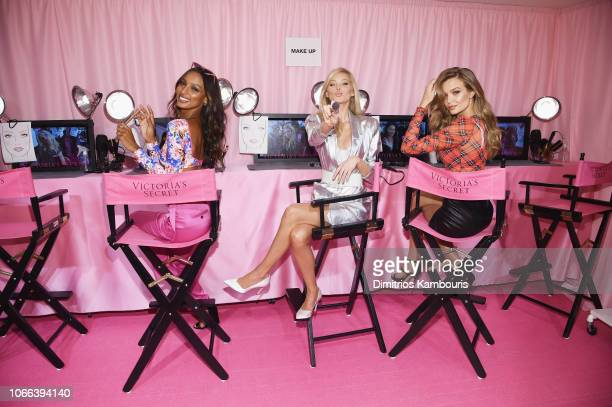 Jasmine Tookes, Elsa Hosk and Josephine Skriver attend as VS Angels celebrate the Victoria's Secret Fashion Show airing December 2 on the ABC...