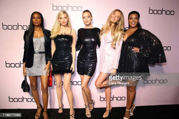Jasmine Tookes Elsa Hosk Josephine Skriver Romee Strijd and Yvonne Simone attend boohoo x All That Glitters Launch Party on November 07 2019 in Los...