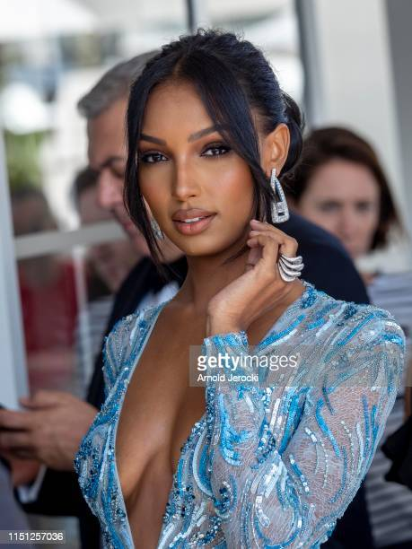 Jasmine Tookes is seen at the hotel Martinez during the 72nd annual Cannes Film Festival on May 23 2019 in Cannes France