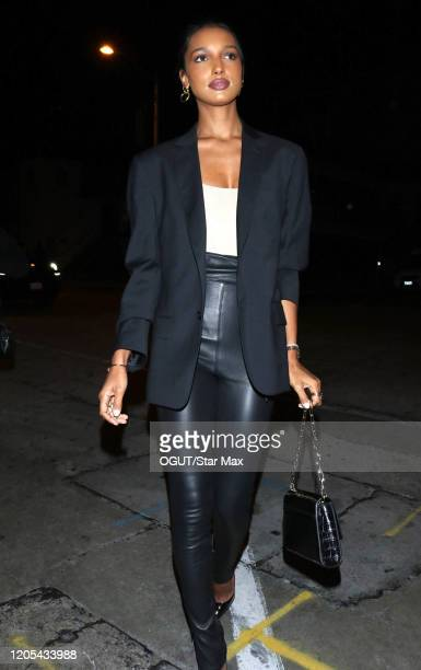 Jasmine Tookes is seen on March 6 2020 in Los Angeles California