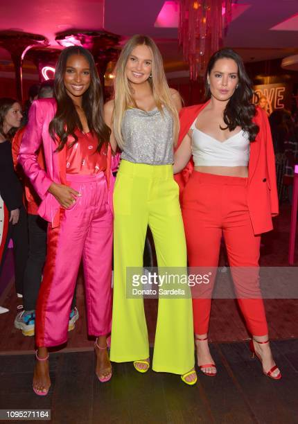 Jasmine Tookes Romee Strijd and Beau Dunn attend Victoria's Secret Angels Jasmine Tookes and Romee Strijd Share The Perfect Gifts for Valentine's Day...