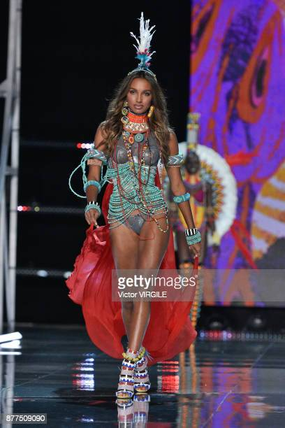 Jasmine Tookes walks the runway at the 2017 Victoria's Secret Fashion Show In Shanghai Show at MercedesBenz Arena on November 20 2017 in Shanghai...