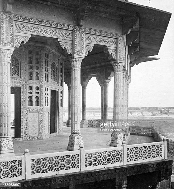 Jasmine Tower Agra Fort Agra India early 20th century Stereoscopic slide Detail
