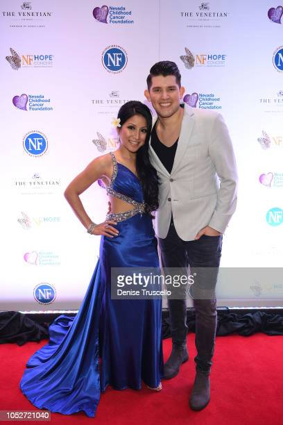 Jasmine Trias and Ben Stone arrive at Las Vegas's 8th annual NF Hope Concert A Benefit for Neurofibromatosis at the Palazzo Theatre at The Palazzo...