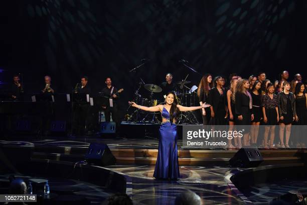 Jasmine Trias performs at Las Vegas's 8th annual NF Hope Concert A Benefit for Neurofibromatosis at the Palazzo Theatre at The Palazzo Las Vegas on...