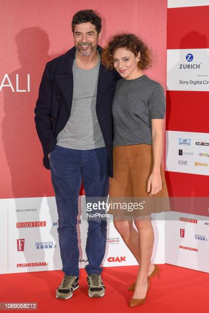 Jasmine Trinca And Alessandro Gassmann attends a photocall during the 41th Giornate Professionali del Cinema Sorrento Italy on 5 December 2018