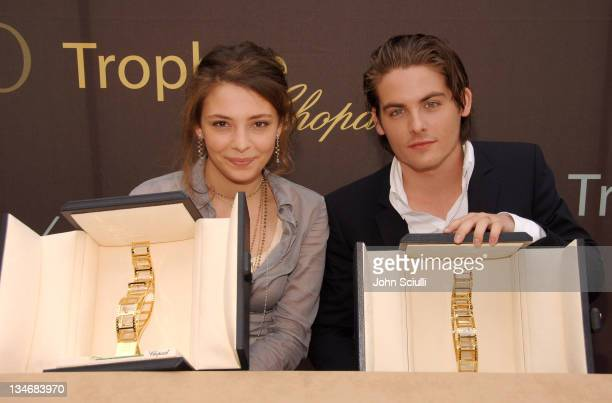 Jasmine Trinca and Kevin Zegers, award winners during 2006 Cannes Film Festival - The Chopard Trophy Award-Winners - Press Conference at The Majestic...
