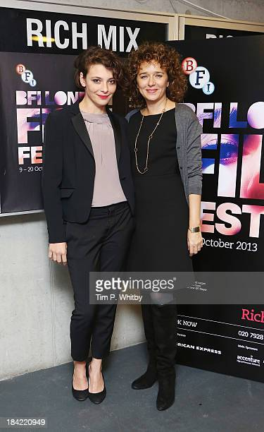 Jasmine Trinca and Valeria Golino attend a screening of Honey during the 57th BFI London Film Festival at Rich Mix on October 12 2013 in London...