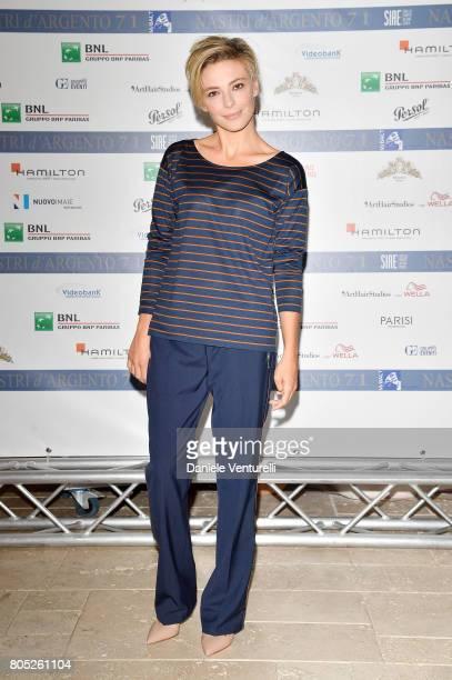 Jasmine Trinca attends Nastri D'Argento 2017 Press Conference on July 1 2017 in Taormina Italy