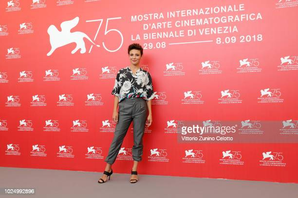 Jasmine Trinca attends 'Sulla Mia Pelle ' photocall during the 75th Venice Film Festival at Sala Casino on August 29 2018 in Venice Italy
