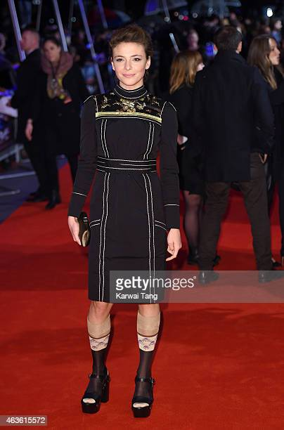 Jasmine Trinca attends the World Premiere of The Gunman at BFI Southbank on February 16 2015 in London England