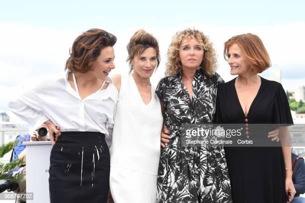 Jasmine Trinca Valentina Cervi director Valeria Golino and Isabella Ferrari attend Euforia Photocall during the 71st annual Cannes Film Festival at...
