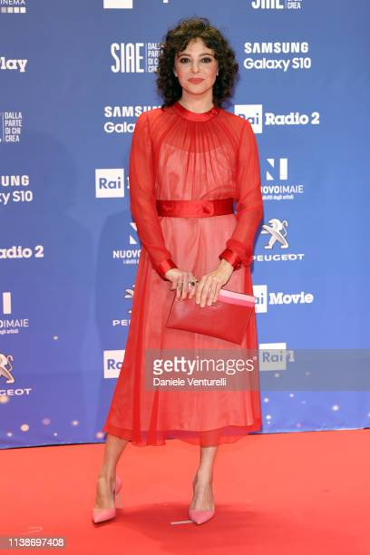 Jasmine Trinca walks a red carpet ahead of the 64 David Di Donatello awards ceremony Red Carpet on March 27 2019 in Rome Italy
