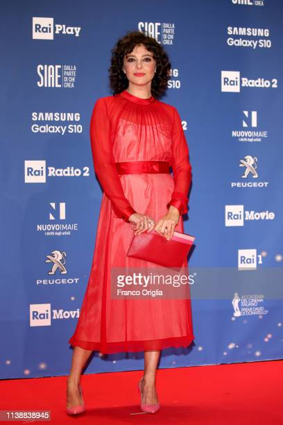 Jasmine Trinca walks a red carpet ahead of the 64 David Di Donatello awards ceremony Red Carpet on March 27 2019 in Rome Italy