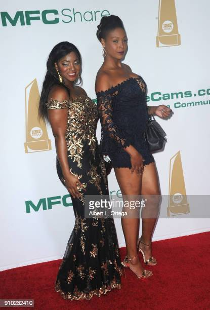 Jasmine Webb and Giana Taylor arrives for the 2018 XBIZ Awards held at JW Marriot at LA Live on January 18 2018 in Los Angeles California