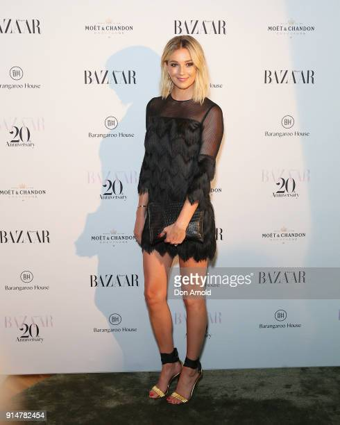 Jasmine Yarbrough arrives ahead of the Harper's Bazaar Australia 20th Anniversary celebration on February 6 2018 in Sydney Australia