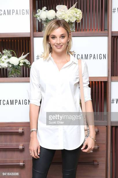 Jasmine Yarbrough attends the Witchery x OCRF White Shirt Campaign Launch on April 4 2018 in Sydney Australia