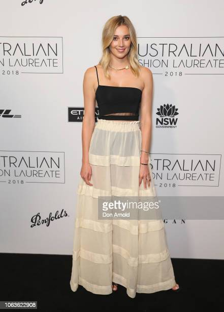 Jasmine Yarbrough poses at the 2018 Australian Fashion Laureate Awards on November 20 2018 in Sydney Australia
