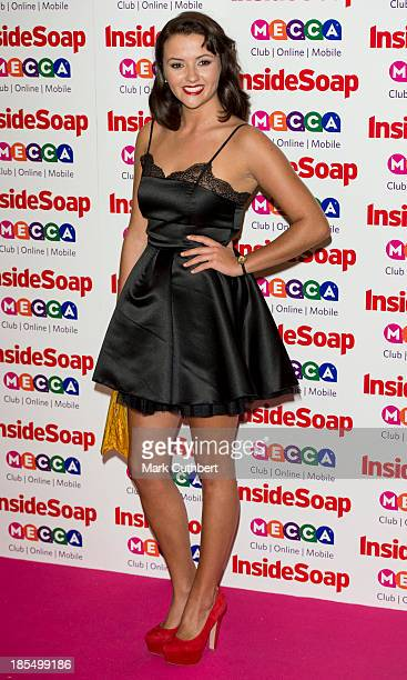 Jasmyn Banks attends the Inside Soap Awards at Ministry Of Sound on October 21 2013 in London England