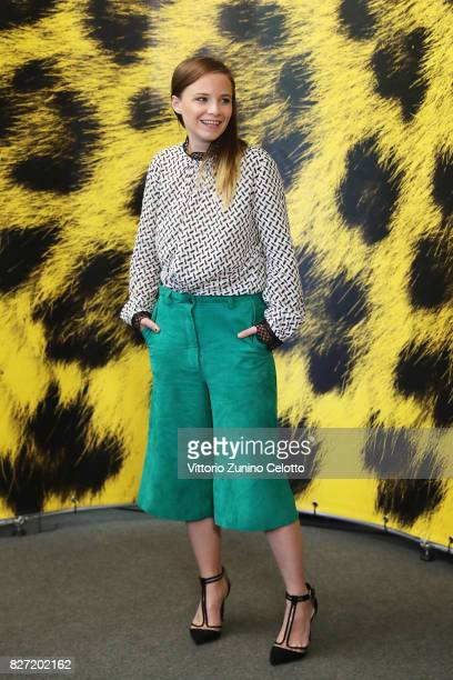 Jasna Fritzi Bauer attends 'Goliath' photocall during the 70th Locarno Film Festival on August 7 2017 in Locarno Switzerland