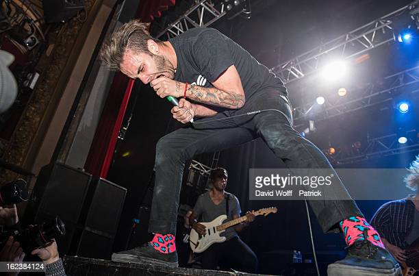 Jason Aalon Butler from Letlive opens for Deftones at Le Trianon on February 22 2013 in Paris France