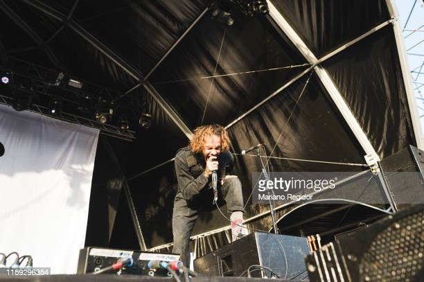 Jason Aalon Butler of Fever 333 performs on stage during day 3 of Download festival 2019 at La Caja Magica on June 30 2019 in Madrid Spain
